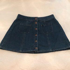 Brandy Melville button down skirt